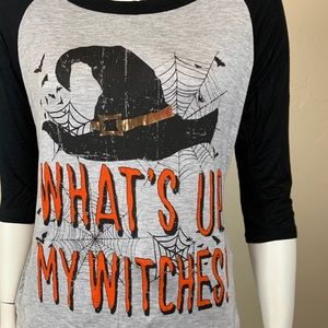 "NWT - Halloween ""What's Up Witches"" Shirt"